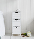 25cm wide slim bedside table