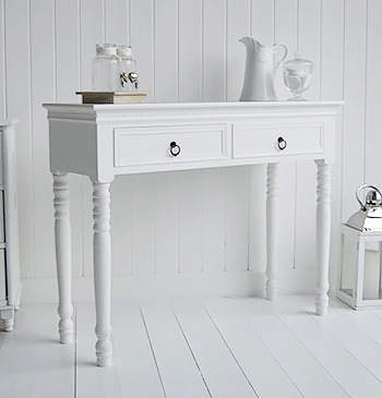 New England white dresser table