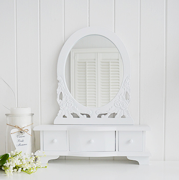 White Dressing Table Mirror The White Lighthouse Bedroom