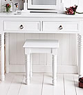 New England White Dressing Table Stool to mathch the dressing tables