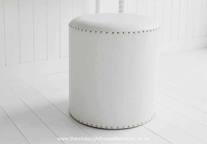 White Dressing Table Stool From The White Lighthouse Bedroom Furniture